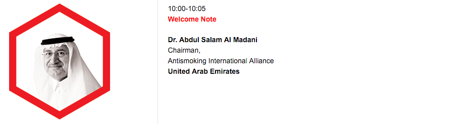 Welcome Note, Dr. Abdul Salam Al Madani Chairman, Antismoking International Alliance