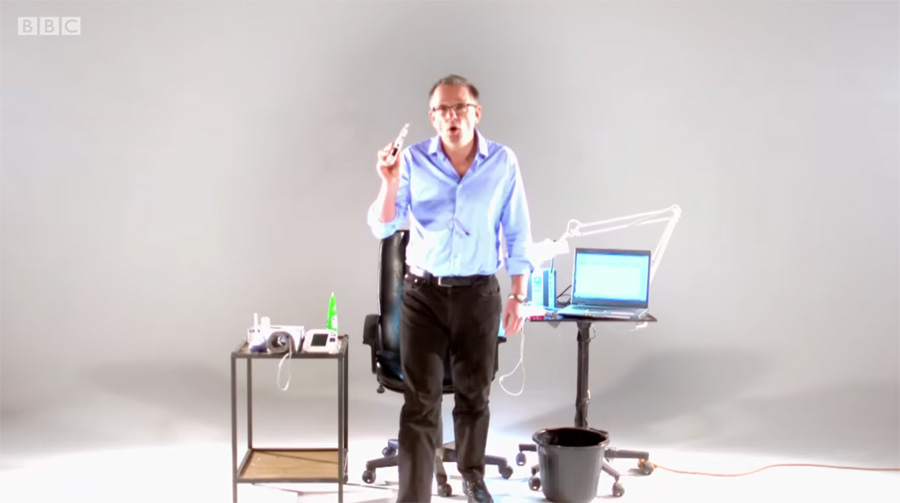 The journalist Dr Michael Mosley enters the world of e-cigarettes with this BBC documentary.