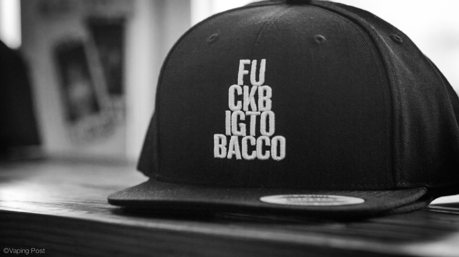 F**k Big Tobacco: one of the snapbacks for sale at the Henley Vaporium.