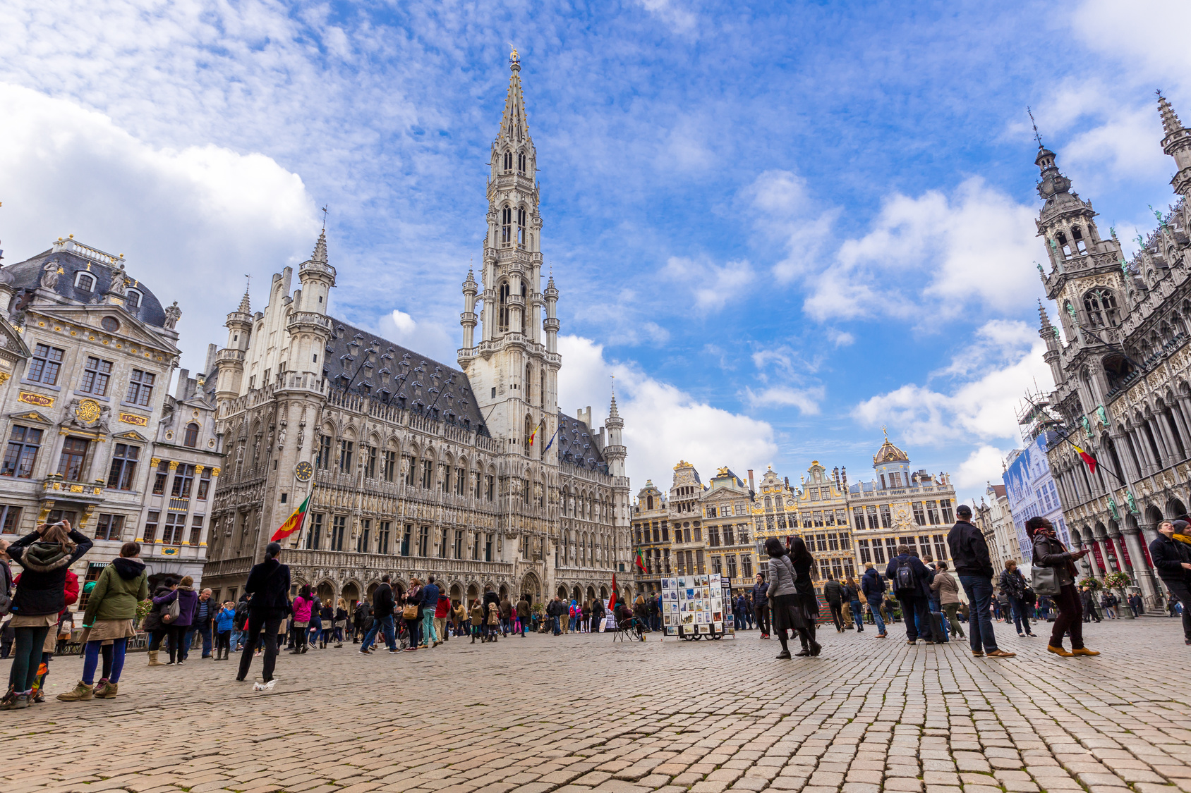 Grand place in summer Brussels, Belgium