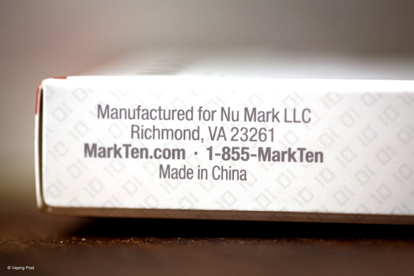 Mark Ten is commercialized by Nu Mark in the US, an Altria's subsidiary.
