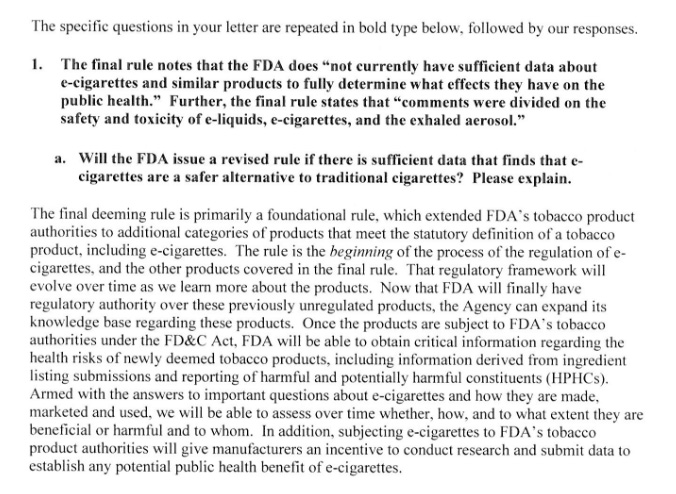 Sample Response To Fda Warning Letter Tobacco