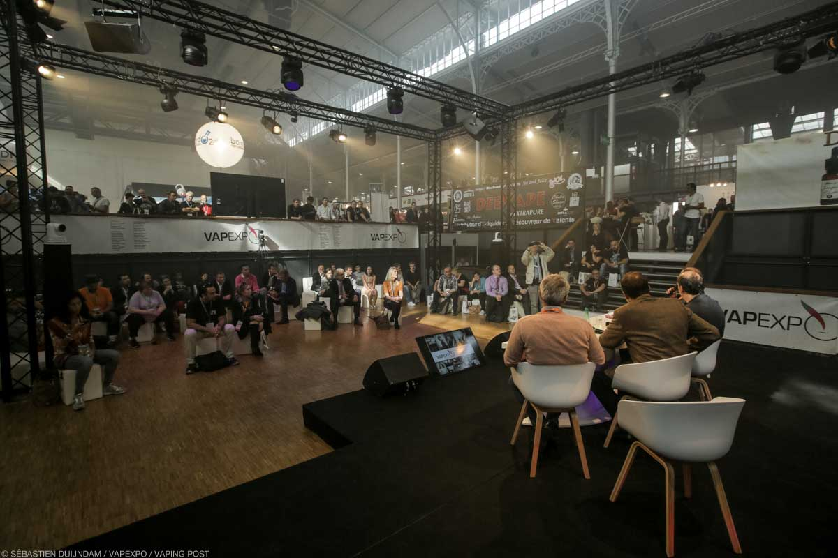 Conferences stage at Vapexpo (Paris, sept 2016)