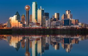 View of Dallas, Texas, USA