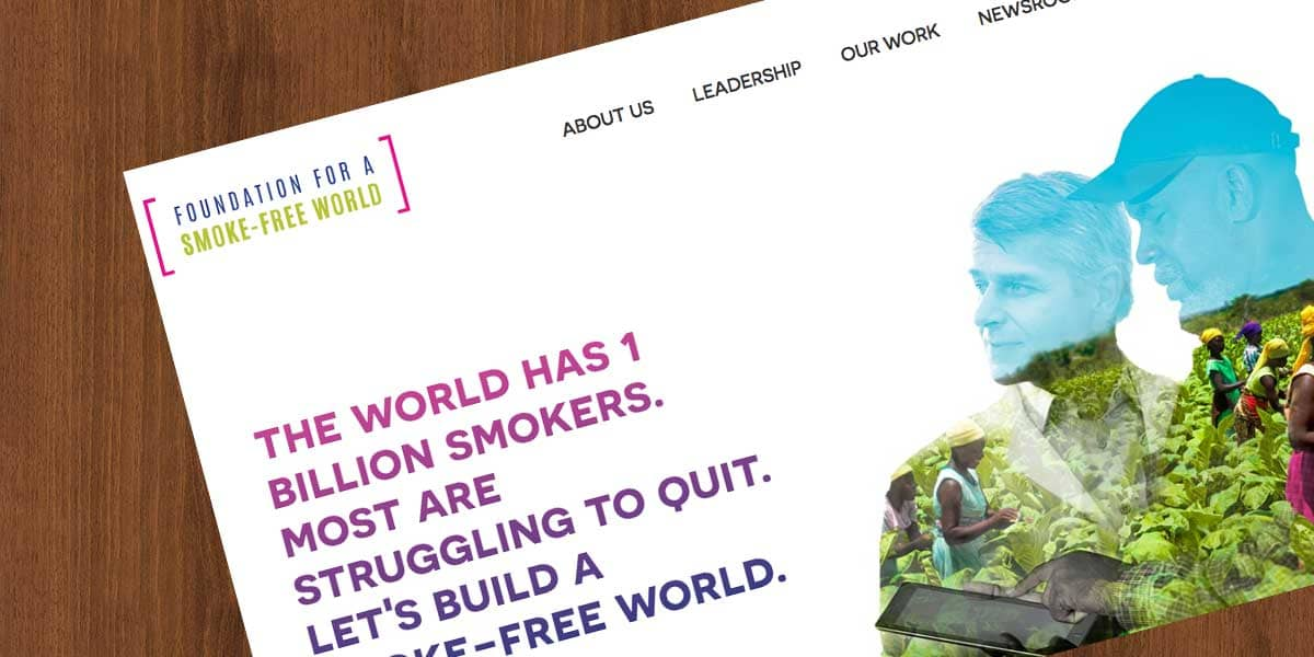 foundation for a smoke free world