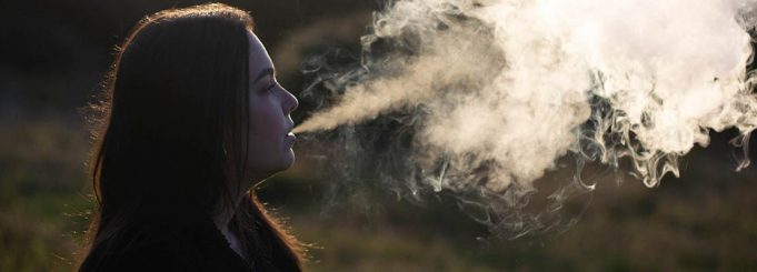 Woman vaping