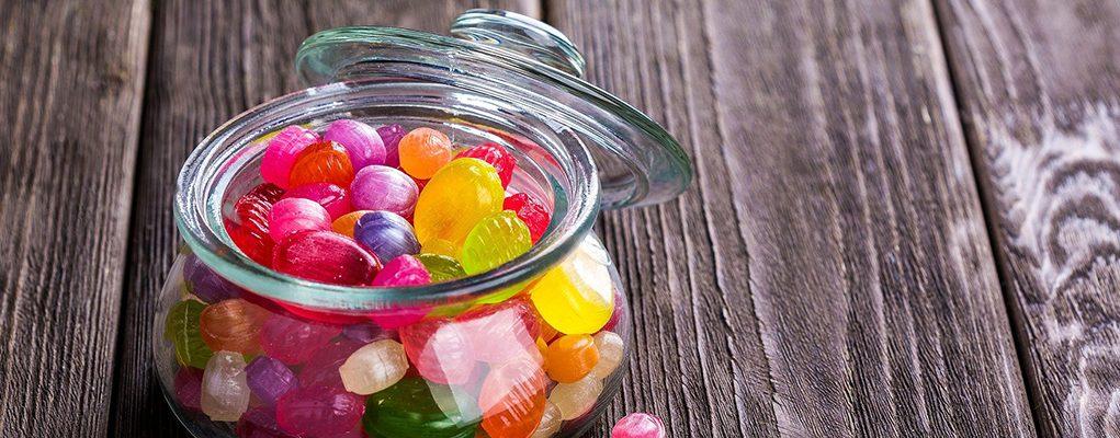 candies in a jar