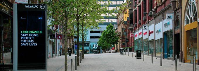 London streets during lockdown pandemic