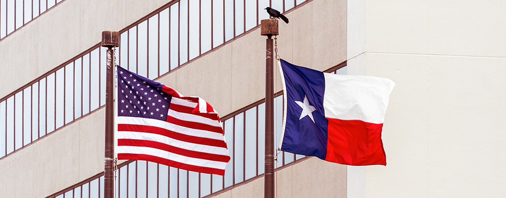 American and Texas fLAG