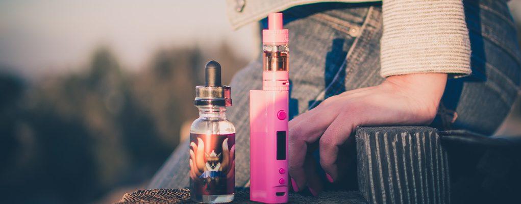pink e-cig and e-liquid