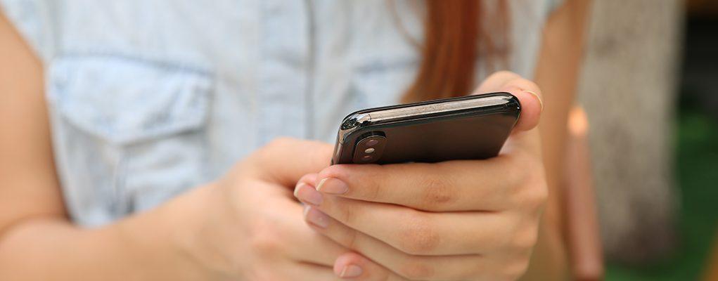 woman phone texting