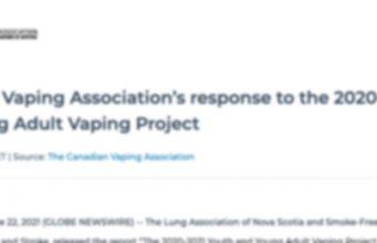 Canadian Vaping Association's response