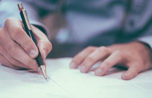 doctor writing an ordinance